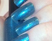 Blue moon nail varnish - 5ml handmade indie nail polish