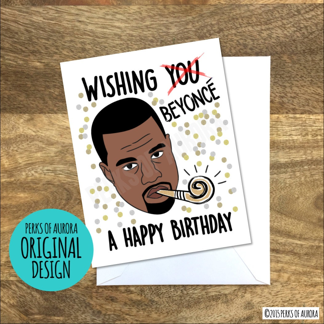 kanye birthday card  etsy, Birthday card