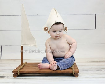 Sailor Prop Boy / Girl Newborn Photography Props Toddlers prop Raft Wooden Props  Newborn Photography Props  Beach Props  Pirate  Boat Props