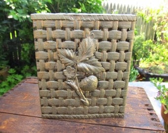 Vintage Ornate Metal Tissue Cover - StrawberryTissue Box Cover