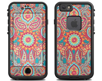 Skin for LifeProof iPhone Case - Carnival Paisley by Carol Van Zandt - Sticker Decal - 7, 6/6S, Plus, 5/5S/SE, 5C, 4/4S, Fre, Nuud