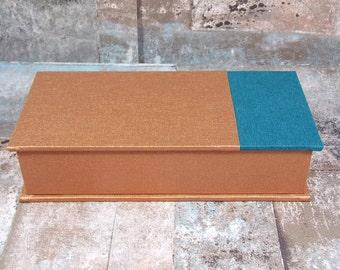 Caja de lápiz, caja para bolígrafos, caja de regalo, carro, escritorio, caja de la pluma, cobre, caja de la pluma, cobre con azul oscuro