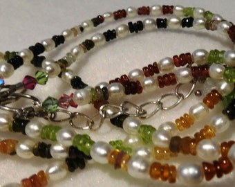 Tourmaline Seed Pearl Necklace
