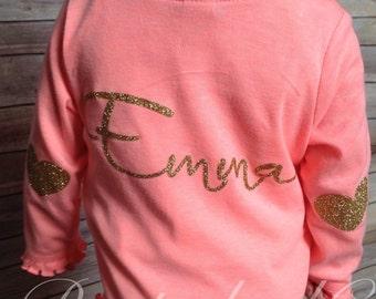 Personalized zip up hoodie | Toddler zip up jacket | Custom name jacket | Baby Girls Jacket |Toddler Christmas Gift | Toddler Jacket Girl