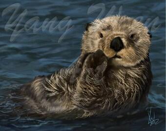 Otter 16 X 20 print