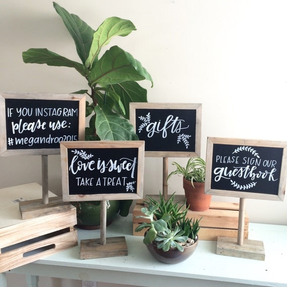 Wedding Gift Table: Chalkboard Sign / Customized Sign / Gift Table Sign / Wedding