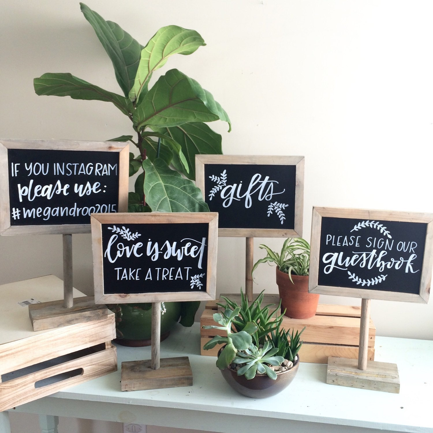 Table Gifts For Weddings: Chalkboard Sign / Customized Sign / Gift Table Sign / Wedding