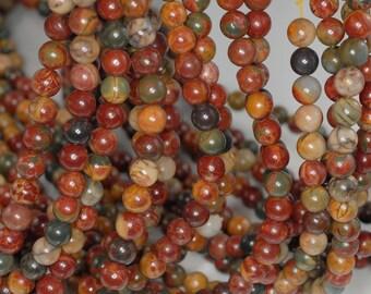 4mm Picasso Jasper Gemstone Round Loose Beads 15.5 inch Full Strand (90184133-356)