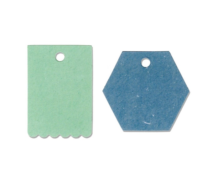 New! Sizzix Border Originals Die - Tags, Hexagon & Scallop by Echo Park Paper Co. 660444