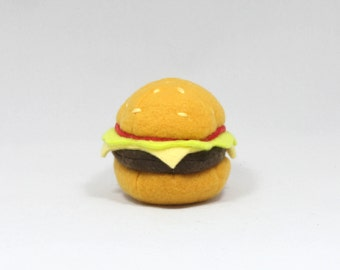 Delicious Cheeseburger Cat Toy Stuffed with Organic Catnip
