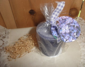 LILAC scented Votive Candles - Set of 4