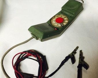 Vintage Phone - Servicemans Rotary Phone Handset  - Northern Telecom - 1967