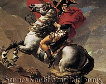 Napoleon and His Horse People Cross Stitch Pattern Color Symbols Download