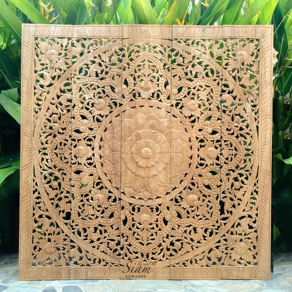carved wood moroccan headboard 2