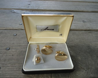 Anson Cufflinks and Tie Tack Set