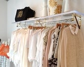 Clothing Rack Set - Lucite and Brass Retail Display