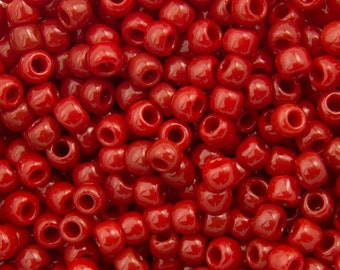 TOHO Seed Bead 8/0 ~ Opaque Pepper Red ~ 8 Grams (TR-08-45) F-7