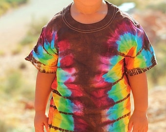 Tie Dye T-Shirt, Kids Rainbow Tee, Childerns Clothes