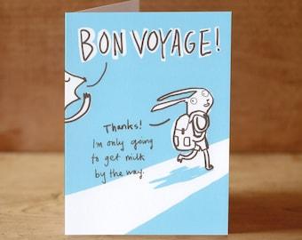 Bon Voyage Good Journey Greeting Card