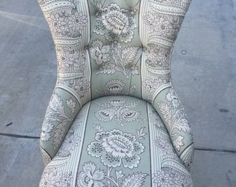 Beautiful! French Styled Upholstered Chair - AH