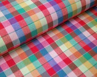 """0,5 m Woven cotton fabric  """"Indian Summer"""" check 150 cm width Westfalen"""
