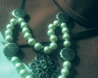 Double Strand Pearls with Pendant