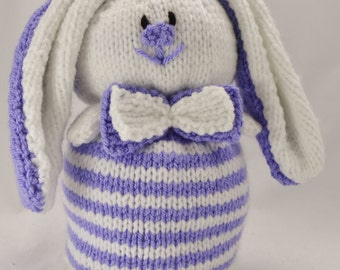 KNITTING PATTERN - Rabbit Doorstop Knitting Pattern Download From knitting by Post