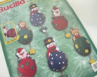 Bucilla Christmas OrnamentsTree Trimmers 84078 Felt Ornaments Multi Lingual