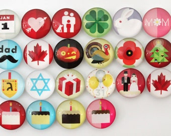 Holiday Canadian Magnets