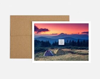 Unplug Camping Birthday Greeting Card