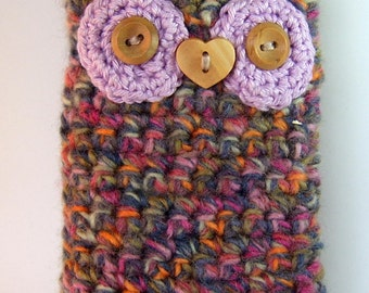SALE! owl phone / ipod case with felt lining