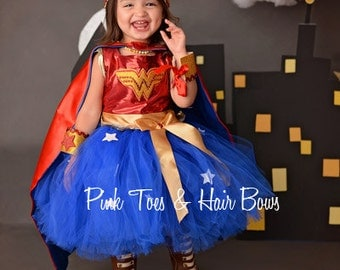 Wonder Woman costume- Wonder woman tutu costume- wonder woman costume dress- wonder woman dress-wonder woman tutu