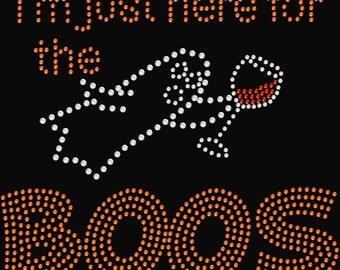 Here for the Boos Halloween Rhinestone Transfer