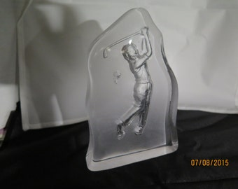 Collectible golfer paperweight? Sculpture