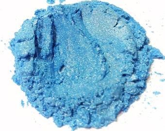 BAHAMA BLUE Mineral Eye Shadow - Natural Makeup - Gluten Free Vegan Face Color
