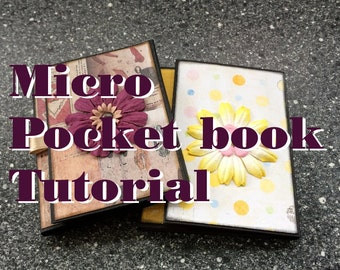 Tutorial #12: Micro Pocket Book with ribbon-pulled magnet closure
