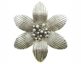 2 Silver Flower Charm Pendant 50x45mm by TIJC SP0654