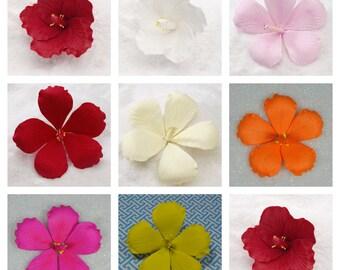 Gumpaste Hibiscus Flowers - Red, White, Pink, Yellow, Orange- Great for Luau or Beach Weddings! - Fondant Edible Wedding Cake Toppers :)