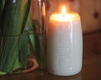 Soy Scented Candle in a Water Bottle