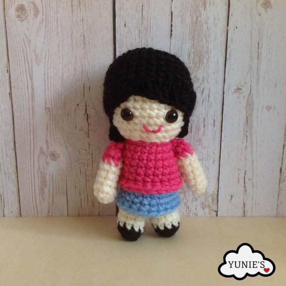 Amigurumi Hello Kitty Crochet Pattern : Crochet pattern doll: Girl Doll Crochet Pattern Amigurumi