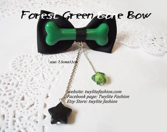 Forest Green Bone Bow