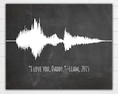 Custom Sound Wave Art Print - Voice Wave - Choose Your Colors -  Up to 5 voices - Christmas, Birthday, Mother's Day, Father's Day Gift