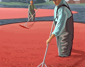 Cranberry Harvest (Art Prints available in multiple sizes)