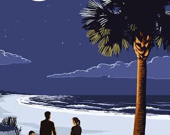 Palmetto Moon - Kiawah Island, South Carolina (Art Prints available in multiple sizes)