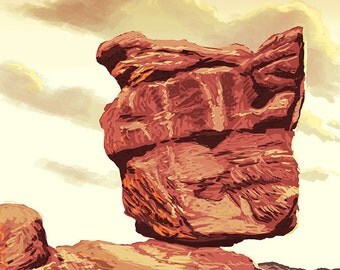Garden of the Gods - Balanced Rock (Art Prints available in multiple sizes)