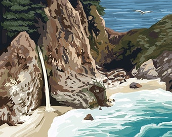 McWay Falls - Big Sur Coast, California (Art Prints available in multiple sizes)