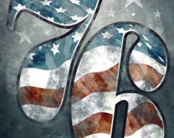Americana - 76 Stars and Stripes (Art Prints available in multiple sizes)