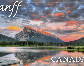 Banff, Canada - Mt. Rundle (Art Prints available in multiple sizes)