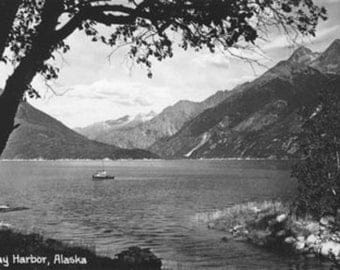 Skagway, Alaska Harbor with Fishing Boat Photograph (Art Prints available in multiple sizes)