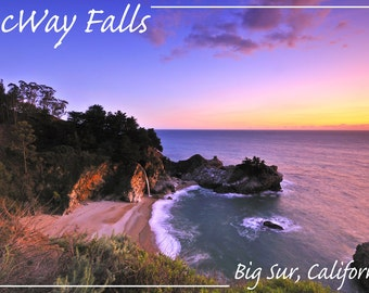 Big Sur, California - McWay Falls Photograph (Art Prints available in multiple sizes)